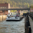 Locks on river Neckar by Hirschhorn Hesse Germany — Stock Photo