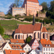 Town of Hirschhorn Hesse Germany — ストック写真