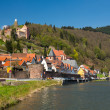 Town of Hirschhorn Hesse Germany — Foto Stock
