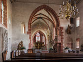 Church of Hirschhorn Hesse Germany — Stock Photo