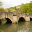 Bridge in Gerlachsheim Germany — Lizenzfreies Foto