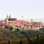 Broad panorama of Rothenburg ob der Tauber — Stock Photo #27796549