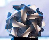 Unusual paper folded lampshade — Stock Photo