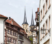 城市或坏的旧城镇 wimpfen 德国 — 图库照片