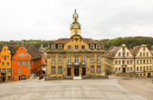 Painted houses in Schwabisch Hall Germany — Stock Photo
