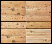 Sélection de noir isolé de planches en bois — Photo