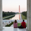 Washington Monument reflecting at night — Lizenzfreies Foto