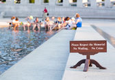 World War II memorial Washington DC — Stock Photo