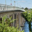 Side view of Key bridge going to Georgetown — Stock Photo