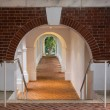 Underground walkway under Rotunda at UVA — 图库照片