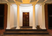 Mahogany doorway and entrance hall UVA — Stock Photo