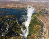το victoria falls στον ποταμό ζαμβέζη — Φωτογραφία Αρχείου