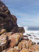 Rocky shoreline Cape of Good Hope — Stock Photo