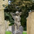 Statue of small child as angel — Stock Photo #33591213