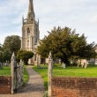Flint church in Woolpit Suffolk — Stock Photo