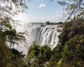 在赞比西河上的维多利亚瀑布 — 图库照片