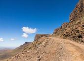 Sani pass to Lesotho — Stock Photo