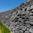 Stock Photo: Stone wall at Dun AonghasArIslands