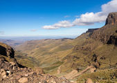 Sani pass to Lesotho — Stock Photo