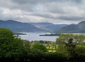 Ireland Killarny Lake on cloudy day — Stock Photo