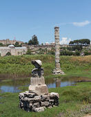 Ancient ruins of Temple of Artemis — Stock Photo