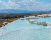 Hot springs and cascades at Pamukkale in Turkey — Stock Photo