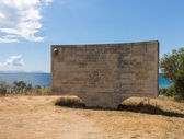Memorial stone at Anzac Cove Gallipoli — Stock Photo