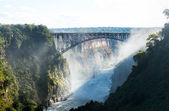 Victoria Falls on Zambezi River — Stockfoto