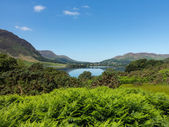 Reflection on Lake District hills in Crummock — Stock Photo