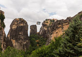 Cable car between monasteries Meteora — Stock Photo