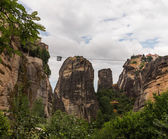 Cable car between monasteries Meteora — Stockfoto