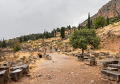 Ruins of Delphi Oracle in Athens Greece — Stok fotoğraf