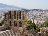 Herodus Atticus in Acropolis Athens — Stock Photo