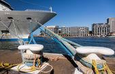 Bow of Cruise ship in Sydney harbor Australia — Stock Photo