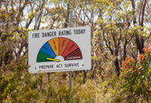Fire Danger Sign Low Moderate Australia — Stock Photo