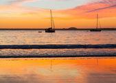 Beach of Coffs Harbour Australia sunrise — Stock Photo