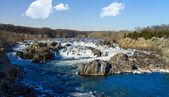 在华盛顿特区外的波托马克河上的大瀑布 — 图库照片