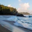 Lumahai Beach Kauai at dawn with rocks — Stock Photo #40933287