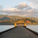 Sunrise over Hanalei Bay Kauai Hawaii — Stock Photo