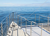Ocean cruise yacht catarmaran railings — Foto Stock