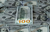 New design 100 dollar US bills or notes — Stock Photo