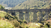 Railway bridge up Taieri Gorge New Zealand — Foto Stock