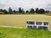 Bowling green in Rotorua in Government Park NZ — Stock Photo