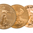 Collection of one ounce gold coins — Stock Photo #45238199