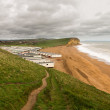 Caravan Park at West Bay Dorset in UK — Stock Photo #47215373