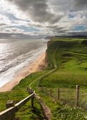 Path on cliffs at West Bay Dorset in UK — Stock Photo