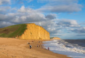 Beach and cliffs at West Bay Dorset in UK — Stock Photo