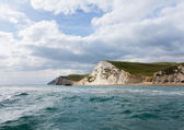 Sea view of cliffs at West Bay Dorset in UK — Stock Photo