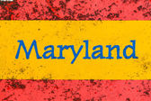 Macro photo of state of Maryland name on newstand — Stock Photo