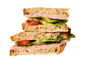English multigrain bread ham sandwich  — Stock Photo